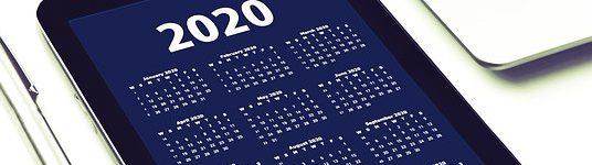 Verarbeitungstermine im Rechenzentrum 2020